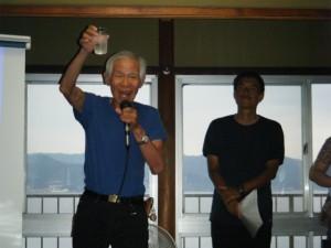 田尻ヨットクラブ会長の乾杯!宴会開始~♪