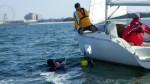 001青木ヨットインストラクター会議落水者救助デモレッスン (1)