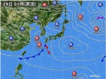 低気圧接近04-28日の天気図
